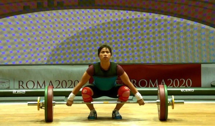 Pinay weightlifter Hidilyn Diaz bags 3 gold medals in Rome Weightlifting World Cup