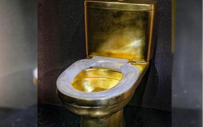 Coronet's diamond-encrusted toilet arrives in Dubai