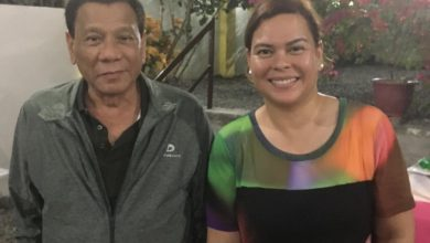 Photo of 'Pagod lang': Duterte reminds Sara not to run for president citing office woes