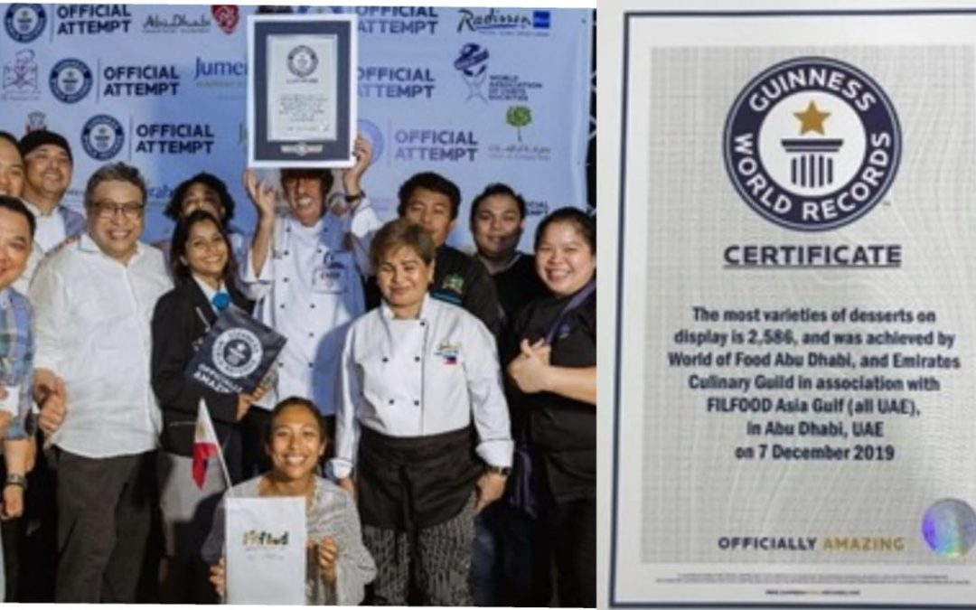 UAE-based Filipino chefs, Filfood contribute to UAE's Guinness recognition
