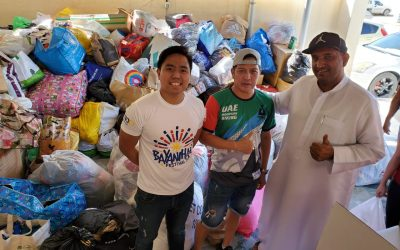 Emirati donates over 15 bags of goods; volunteers for 'Tulong para sa Taal' donation drive