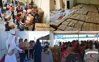 LOOK: Volunteers pack over 1,500 boxes during #UAEforPhilippines aid drive for Taal victims