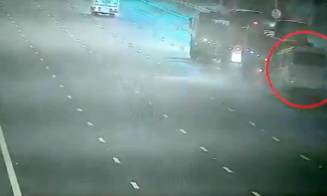 WATCH: CCTV camera captures road accident in UAE