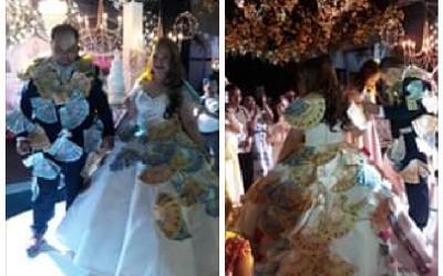 LOOK: Newlyweds earns 630k during prosperity dance