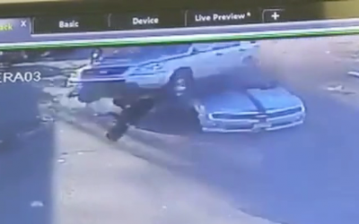 WATCH: Driver hit by car while charging fuel