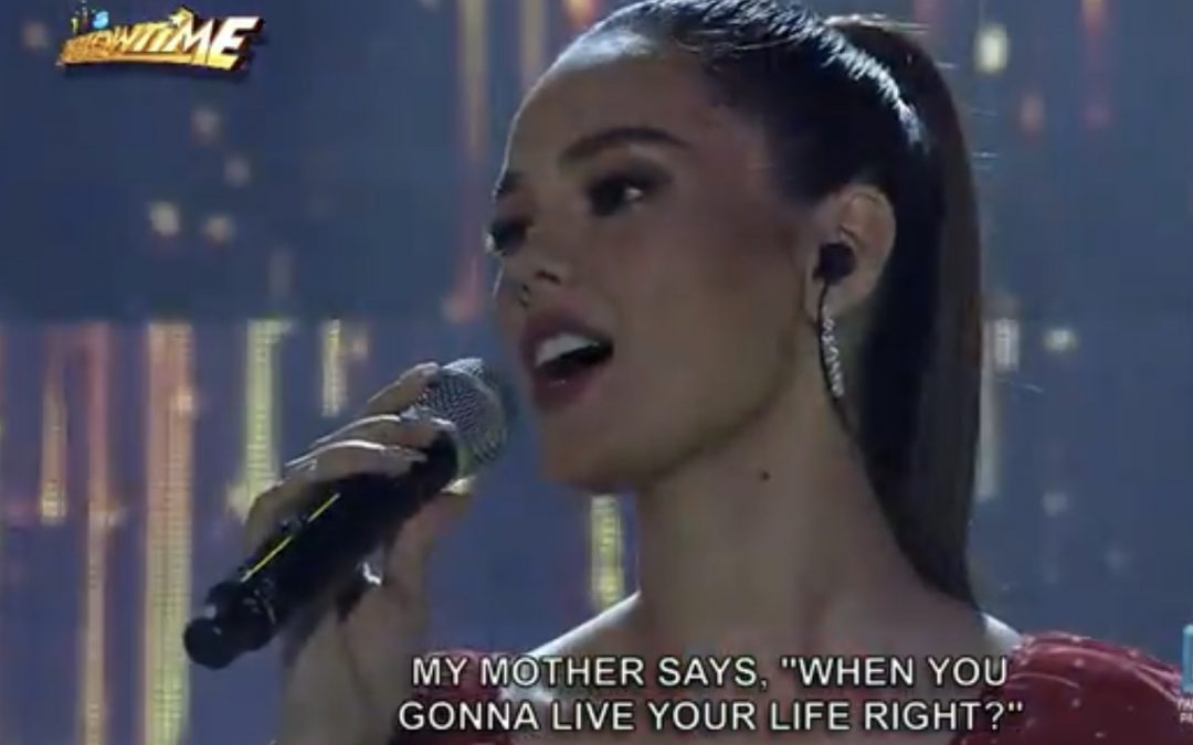 Catriona Gray kicks off birthday celebration as 'It's Showtime' guest host