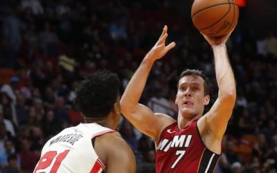 Dragic leads Heat by Blazers in Whiteside's return, 122-111