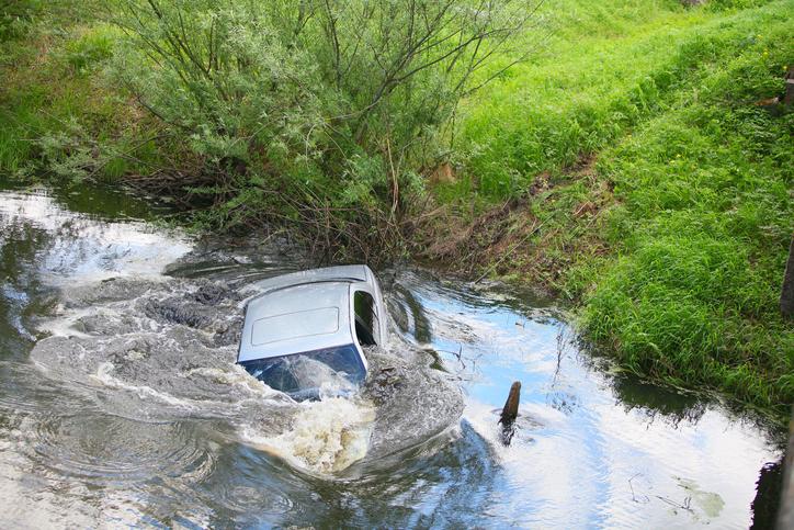 Man steals car, sinks it in sea