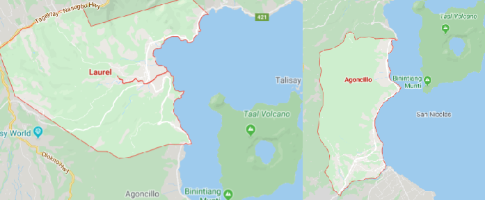 Agoncillo, Laurel towns in Batangas remain in Taal danger zone areas