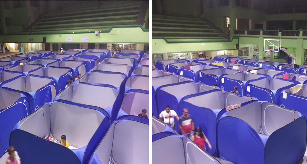 VIRAL: Incredible-looking modular tents installed at evacuation center in Laguna for Taal victims
