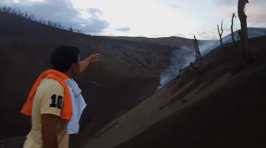 Phivolcs reacts to viral vlog of fearless resident who climbed Taal volcano