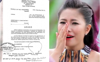 Yeng Constantino posts bail after arrest order