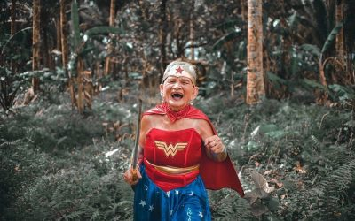 Lolang magsasaka honored on 80th birthday with a 'Wonder Woman' photoshoot