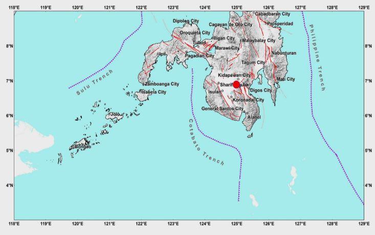 Magnitude 4.3 quake rocks Makilala, Cotabato