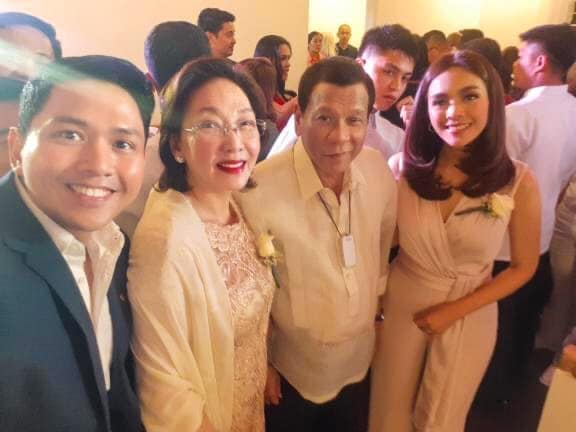LOOK: Duterte graces wedding of GMA reporters