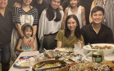 LOOK: Judy Ann Santos hosts dinner with newlyweds Sarah-Matteo