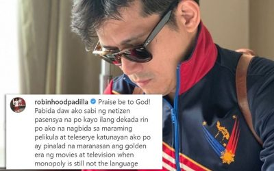 Robin says sorry to wife Mariel, celebs over comments on ABS-CBN shutdown