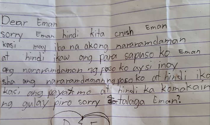 LOOK: Grade 4 student's rejection letter goes viral