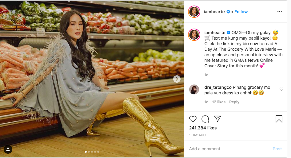 LOOK: Heart Evangelista wears super fabulous outfit in her glam supermarket photoshoot