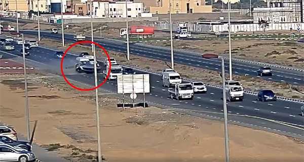 WATCH: Car causes multiple vehicular accident in Sharjah