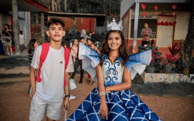LOOK: Brother creates stunning ball gown for youngest sister