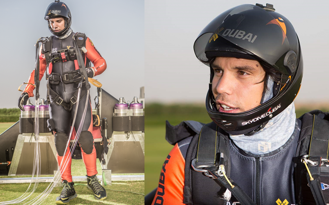 Meet the Dubai jetman in Sheikh Hamdan's autonomous human flight video