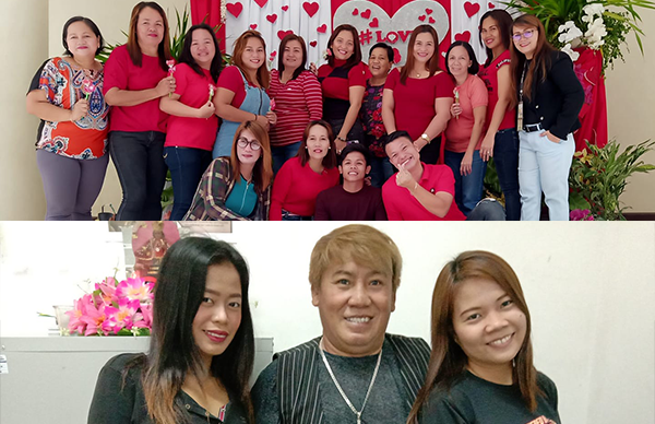 LOOK: Gov't employees in Cebu, Bohol wear colorful shirts on Valentines Day