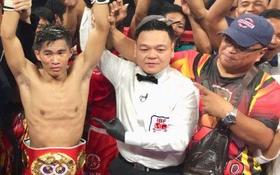 Filipino boxer defends IBF minimum weight championship title
