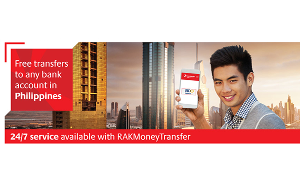 RAKBANK offers free account transfers to any bank in the Philippines