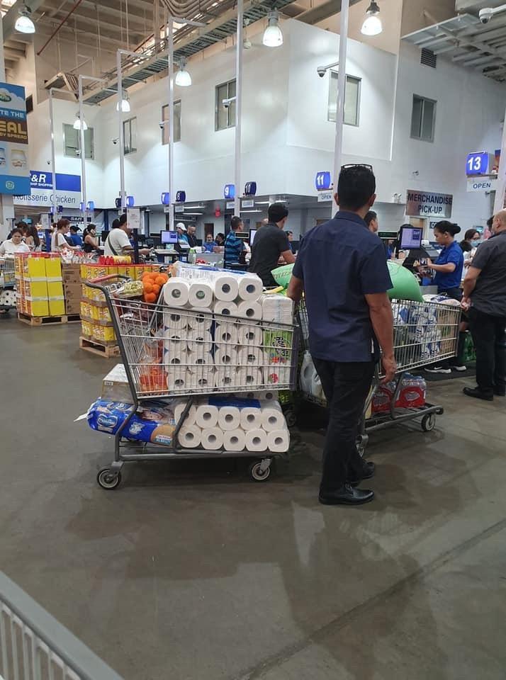 panic buying hits metro manila stores amid covid