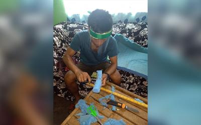 Kalinga-based youth group creates improvised masks for COVID frontliners
