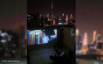 LOOK: Dubai resident turns balcony into outdoor cinema