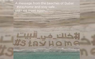 WATCH: Filipino creates huge sand art on UAE's #StayHome campaign