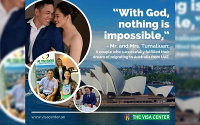 Couple goals: Husband and wife to finally fulfill their dream of living in Australia, thanks to The Visa Center