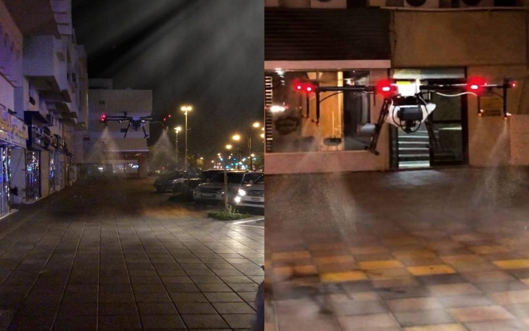 LOOK: Amazing drones disinfect streets in Dubai