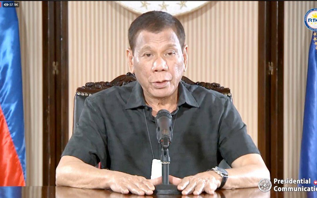 Duterte warns people causing chaos amid COVID-19: Shoot them dead