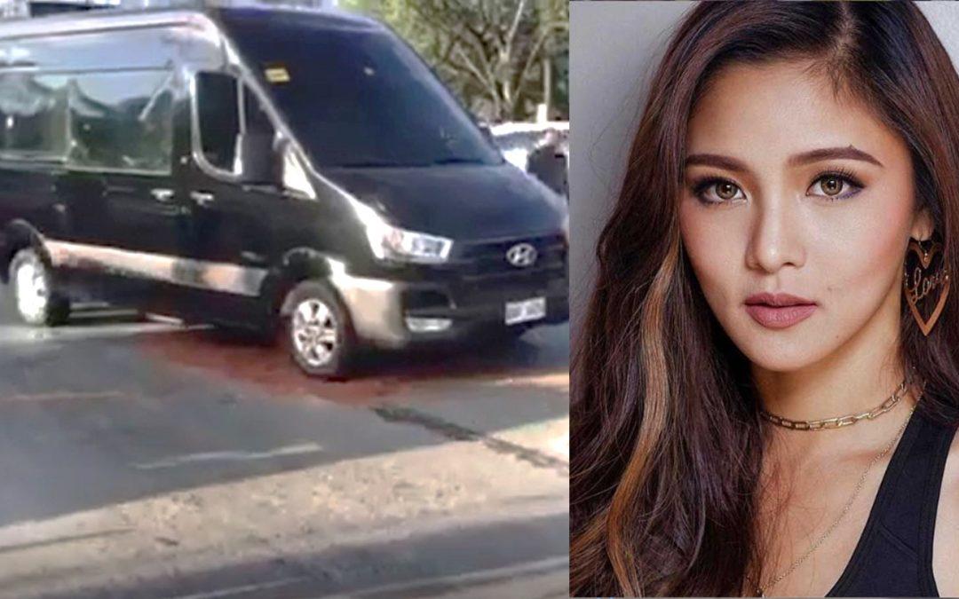 VIDEO: Kim Chiu's van shot in Katipunan, actress in safe condition