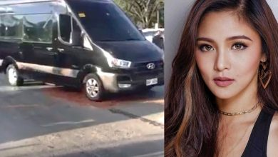 Photo of VIDEO: Kim Chiu's van shot in Katipunan, actress in safe condition