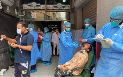 LOOK: Residents in congested areas in Dubai gets tested for COVID-19