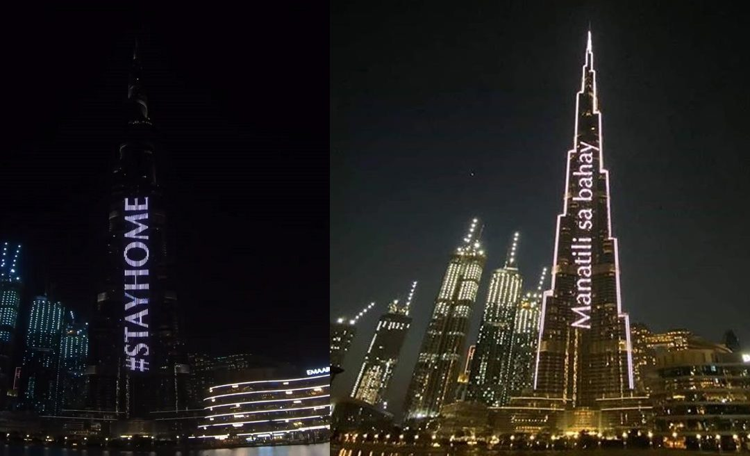 Burj Khalifa lights up: 'Manatili sa Bahay' as part of UAE's 'Stay Home' campaign