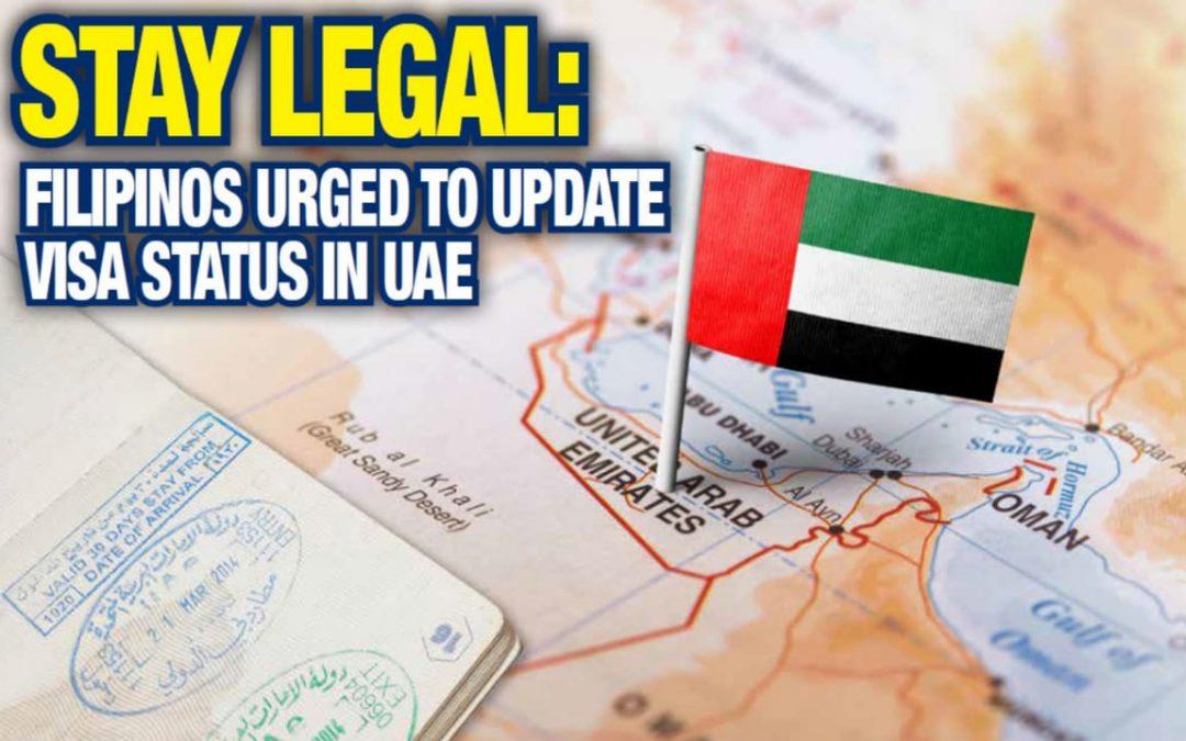 Stay legal: Filipinos urged to update visa status in UAE