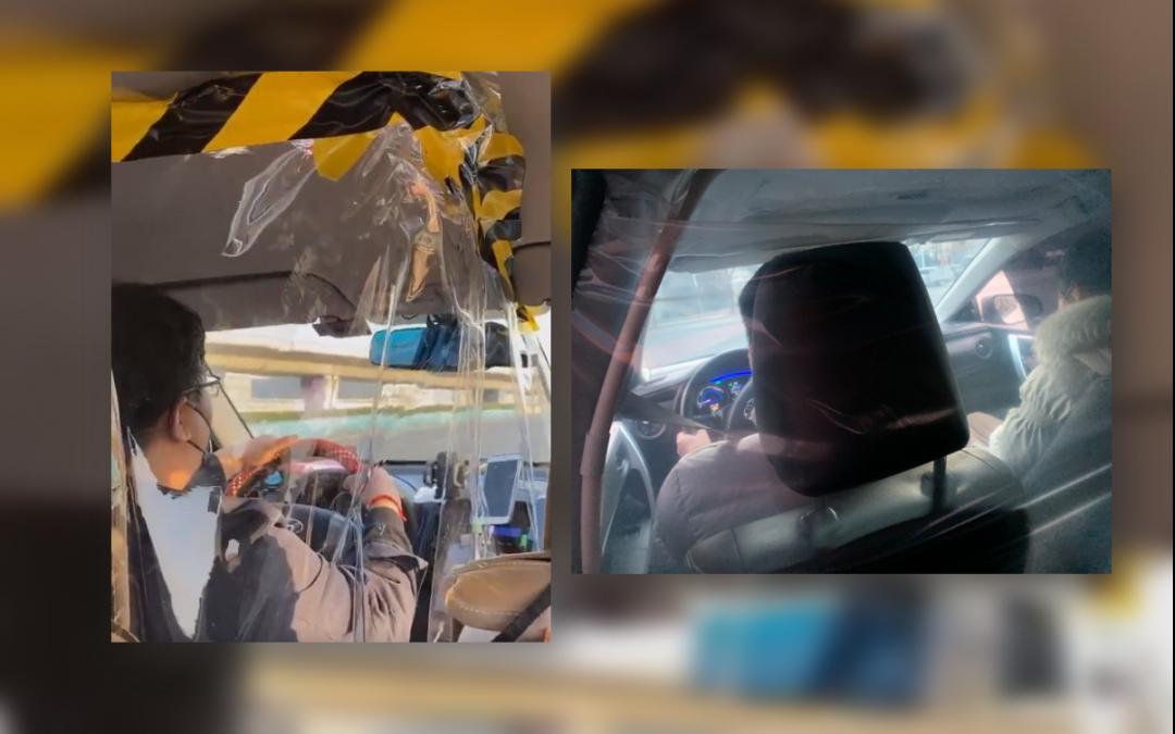 Drivers install plastic shield amid COVID-19 outbreak
