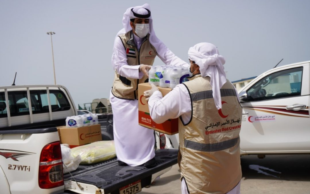 LOOK: Emirates Red Crescent distributes food packages good for one month