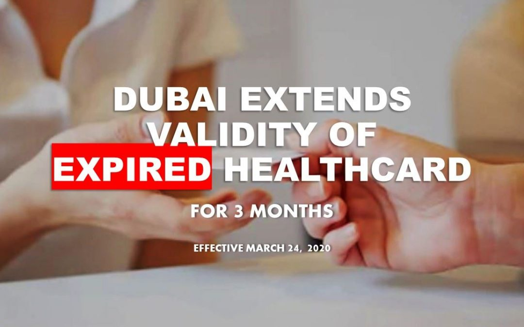 Dubai extends validity of expired health cards for three more months
