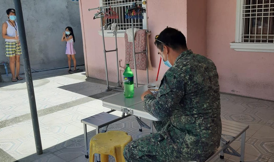LOOK: Policewoman, Navy officer endure distance just to keep family, community safe from COVID-19