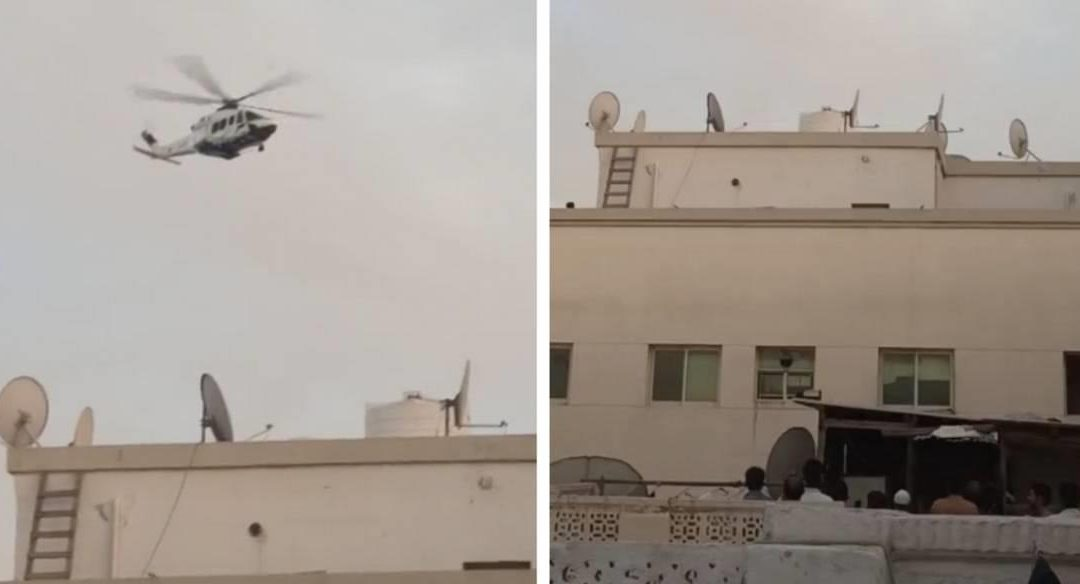 Dubai Police use helicopter to warn violators of 24-hour disinfection drive