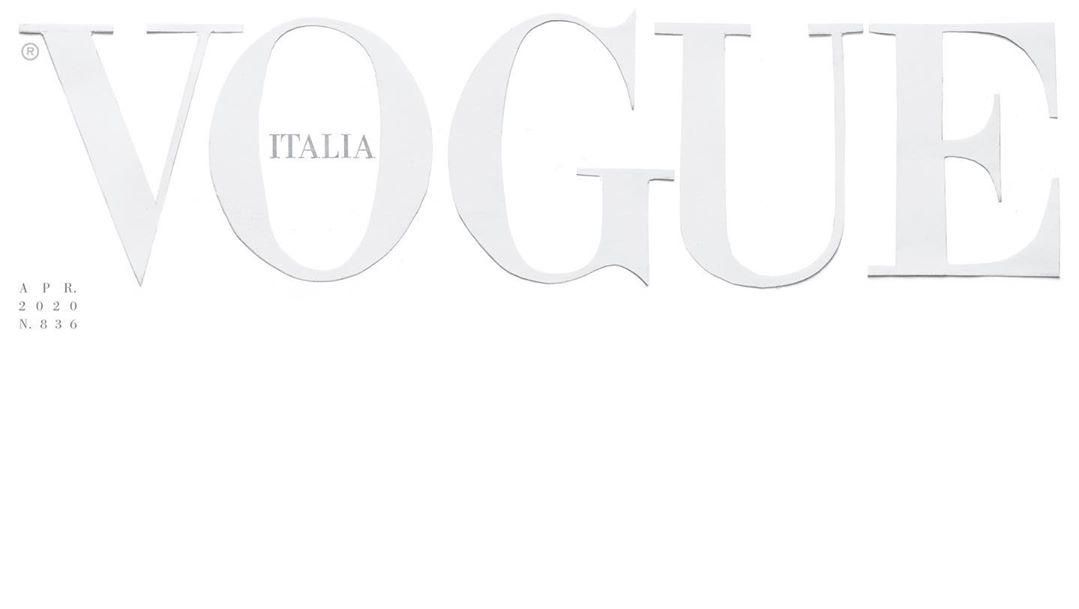 Vogue Italia publishes white blank cover to show support for COVID-19 frontliners
