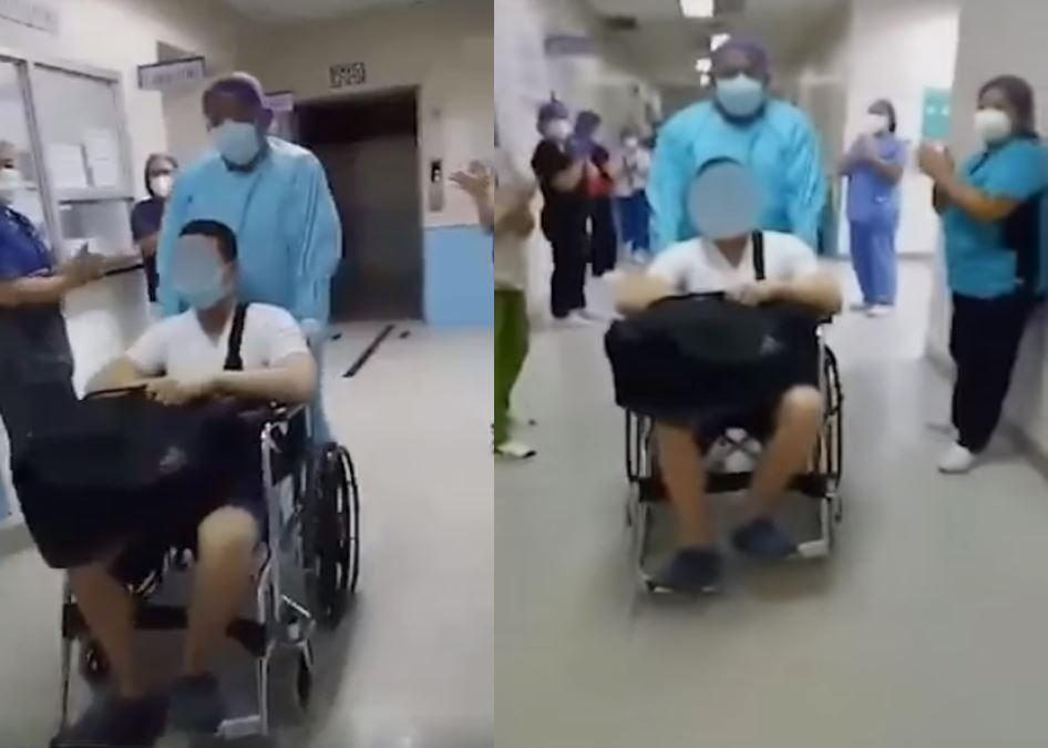 WATCH: Manila hospital sends off another patient who recovered from COVID-19