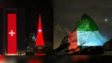 Photo of WATCH: UAE's iconic landmarks lights up with Switzerland flag as sign of gratitude between two countries