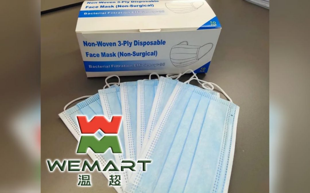 WeMart provides lowest prices on high quality masks in market at only Dh 1.3 per piece